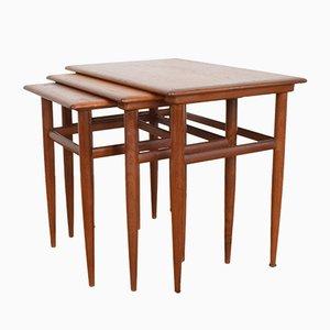 Tavolini a incastro Mid-Century in teak, Danimarca, anni '60
