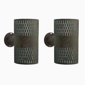 Swedish Copper Outdoor Wall Lights by Hans Bergström for Ateljé Lyktan, 1960s, Set of 2
