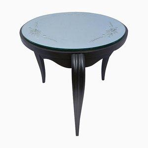 Table Basse Art Déco avec Plateau en Miroir