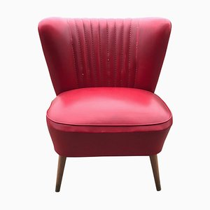 Mid-Century Red Cocktail Chair