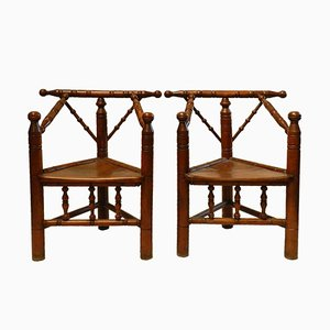 18th-Century French Provincial Armchairs, Set of 2