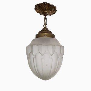 Deutsche Art Deco Deckenlampe, 1920er