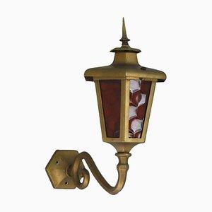 Lanterna da esterni vintage in ottone