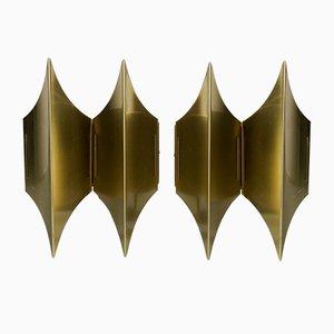 Appliques Murales Gothic II par Bent Karlby pour Lyfa, 1960s, Set de 2