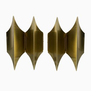 Gothic II Sconces by Bent Karlby for Lyfa, 1960s, Set of 2