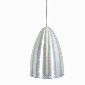 Lampada a sospensione vintage industriale in alluminio traforato