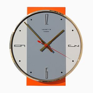Mid-Century Wall Clock from Vedette, 1960s