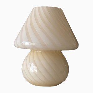 Gelbe Tischlampe aus Muranoglas, 1970er