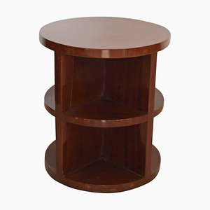 Art Deco Mahogany Veneer Side Table, 1930s