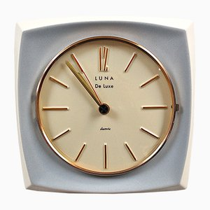 Mid-Century Ceramic Wall Clock from Luna