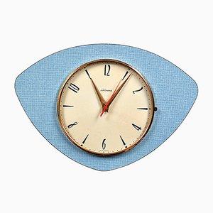 Horloge Murale Mid-Century en Formica de Junghans, 1960s