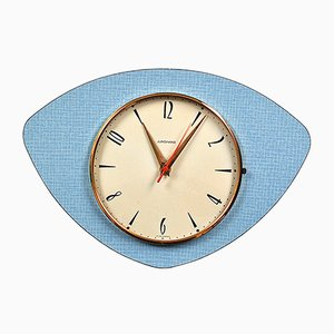 Mid-Century Formica Wall Clock from Junghans, 1960s