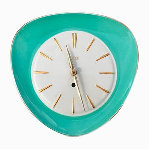 Mid-Century Ceramic Wall Clock from Peter