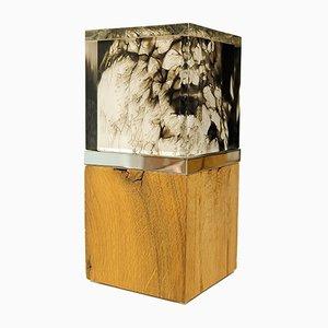 Escultura luminosa ALUCE de malaquita de Peter Bannas para MAHOline, 2019