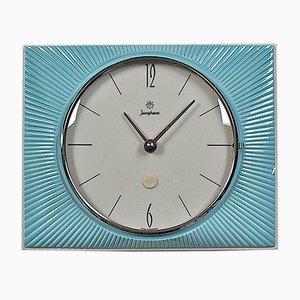 Horloge Murale Sunburst Mid-Century en Céramique de Junghans, 1960s