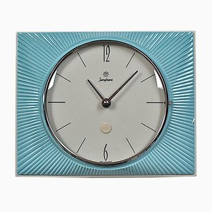 Mid-Century Ceramic Sunburst Wall Clock from Junghans, 1960s