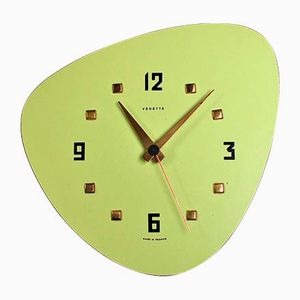 Mid-Century Formica Wall Clock from Vedette, 1950s