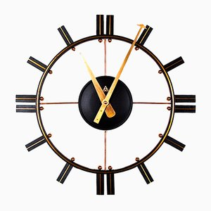 Mid-Century Open Face Wall Clock, 1950s