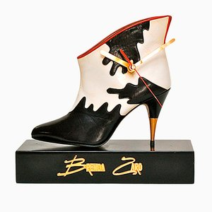 Ankle Boot Desk Clock by Brenda Zaro, 1980s