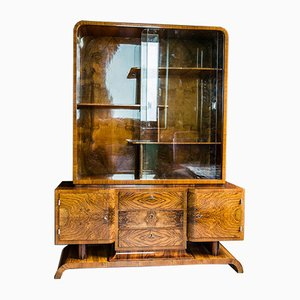 Vitrina vintage Art Déco de Franciszek Najder Cabinet