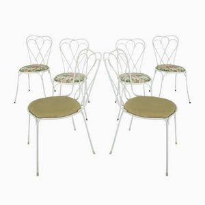 Mid-Century Gartenstühle, 6er Set