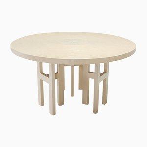 Mesa de comedor redonda de resina de Jean Claude Dresse, años 70