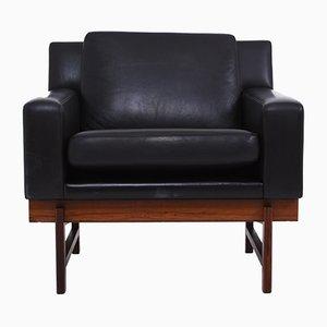 Black Leather Armchair by Erik Ole Jørgensen for Dux, 1960s