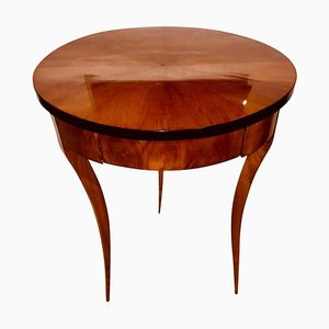 Round Biedermeier Side Table, 1820s