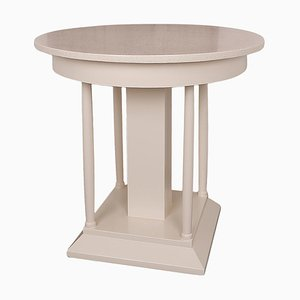 Round Art Deco Side Table, 1930s