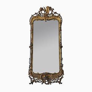 Großer antiker georgischer ebonisierter Spiegel, 1800er