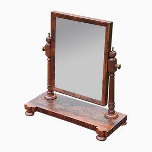 Antiker viktorianischer Spiegel mit Gestell aus Mahagoni