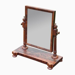 Antique Victorian Mahogany Swing Mirror
