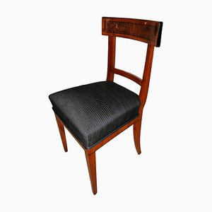 Biedermeier Cherry & Birch Wood Chair, 1820s