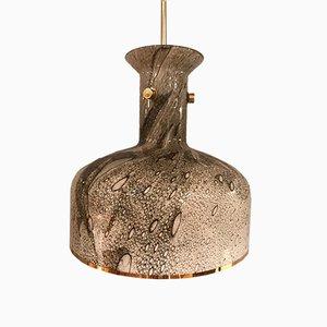 Lámpara colgante de vidrio y latón de Anders Pehrson para Ateljé Lyktan