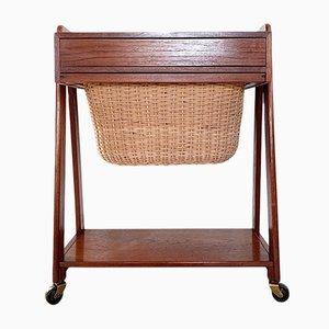 Mueble de costura danés Mid-Century