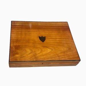 Biedermeier Kiste aus Kirschholz, 1820er