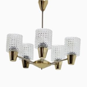 Large Adjustable Chandelier from Kamnický Šenov, 1960s