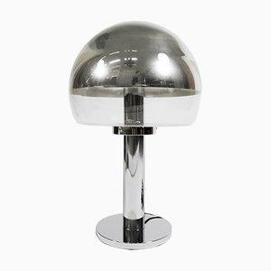 Vernickelte Mushroom Lampe aus Glas von Bankamp, 1970er