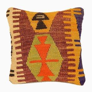 Housse de Coussin Kilim Vert et Orange de Vintage Pillow Store Contemporary