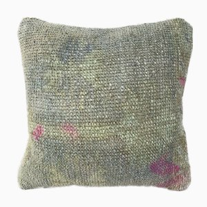 Small Oushak Muted-Color Low Pile Cushion Cover from Vintage Pillow Store Contemporary