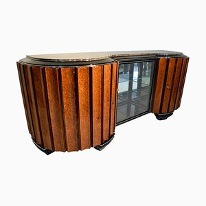 Art Deco French Amboyna and Rosewood Sideboard, 1920s