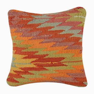 Small Woven Multicolored Kilim Cushion Cover from Vintage Pillow Store Contemporary