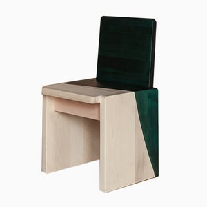 Natural, Pink & Emerald Green Arcadia Chair by Atelier Sauvage
