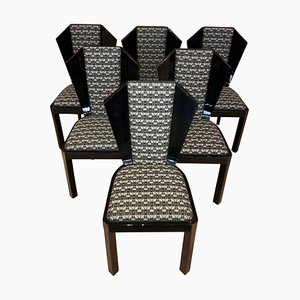 Art Deco Dining Room Chairs, 1930s, Set of 6