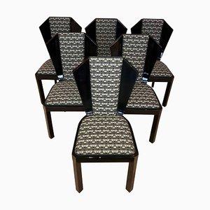 Art Deco Esszimmerstühle, 1930er, 6er Set