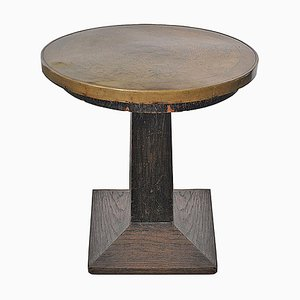 Art Deco Brass Top Occasional Table