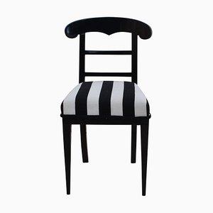 Biedermeier Ebonized Wood Chair, 1820s