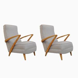 Swedish Easy Chairs, 1940s, Set of 2