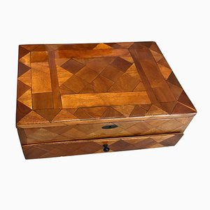 Art Deco French Walnut Veneer Box, 1930s