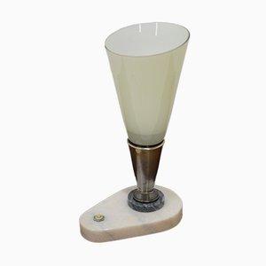 Lámpara de mesa checa vintage de mármol, años 60